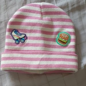 Beanie with patches